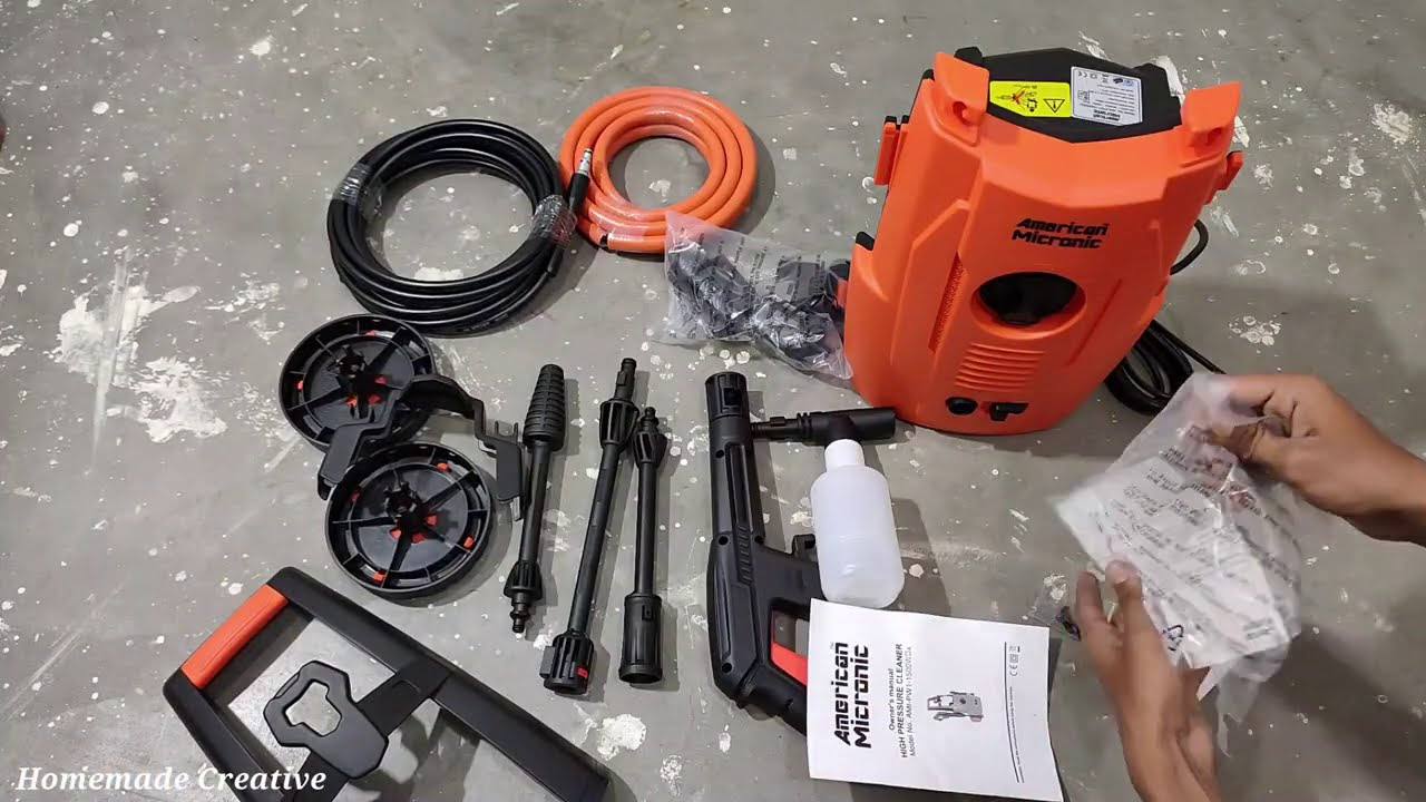 Unboxing and Testing American Micronic Pressure Washer AMI-PW1-1500WDx