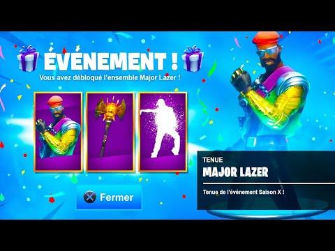 Je DÉCOUVRE le SKIN EXCLUSIF 'Major Lazer' sur Fortnite !