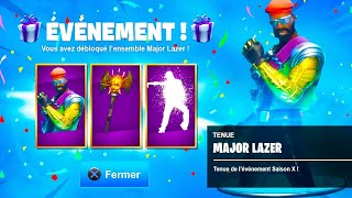 "I DISCOVER the EXCLUSIVE SKIN ""Major Lazer"" on Fortnite!"