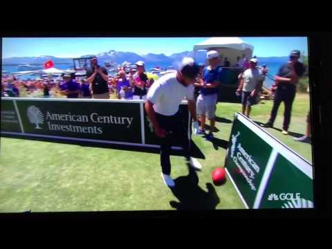 Tony Romo, Justin Timberlake And Steph Curry Play Football On The 17th Hole