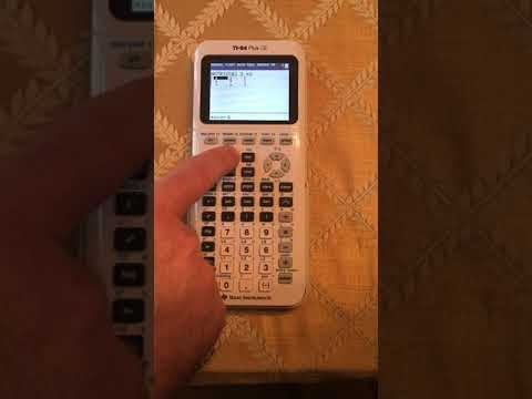 Edison Prep - Multiplying a Matrix into a TI-83 or TI-84 calculator