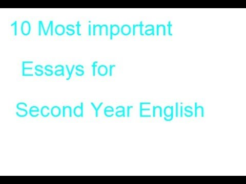 Second Year English  Most Important Essayslecture By Shahid  Second Year English  Most Important Essayslecture By Shahid Bhatti