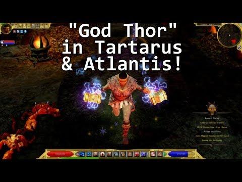 Titan Quest: ATLANTIS God Thor visits Tartarus & Atlantis areas!