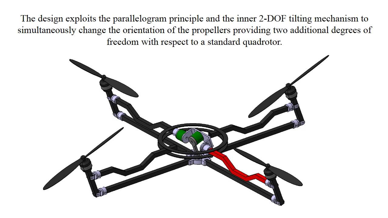 Fully Actuated Quadrotor UAV with a Propeller Tilting Mechanism