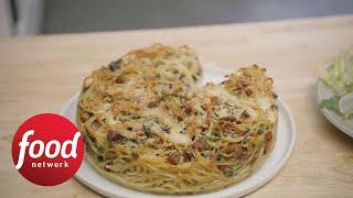 Spaghetti Carbonara Pie from Smitten Kitchen