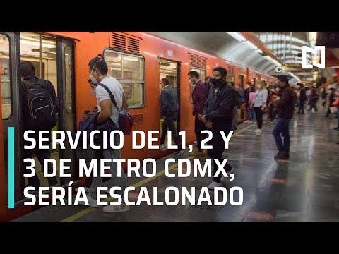 Líneas 1, 2 y 3 Metro CDMX, iniciarían servicio última semana de enero y de forma escalonada