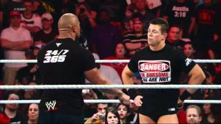 The Rock vs The Miz Confrontation after Raw goes off the air (HD)