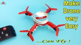 how to Make a Helicopter Drone That Can Fly | Make Drone Using Single Motor