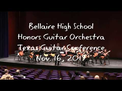 Bellaire High School Honors Guitar Orchestra Performs At The Texas Guitar Conference 2019.