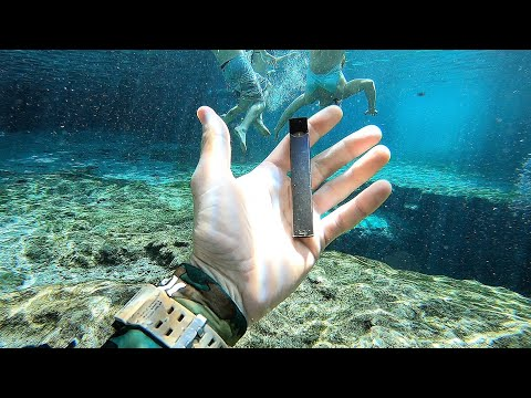 I Found a JUUL Underwater in the River While Searching for Lost Valuables! (Underwater Finds) video screenshot