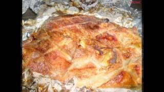 Холодные закуски мясные:Буженина из бедра индейки