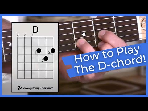 Super Easy First Guitar Lesson - Guitar Lessons For Beginners - Stage 1 - The D Chord