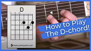 Video Super Easy First Guitar Lesson - Guitar Lessons For Beginners - Stage 1 - The D Chord download MP3, 3GP, MP4, WEBM, AVI, FLV Agustus 2018