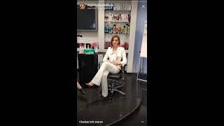 Евгения Феофилактова с новой причёской в прямом эфире Instagram 28-08-2017