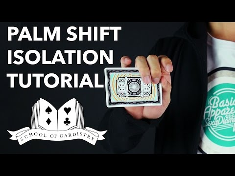 Cardistry For Beginners: Isolation - Palm Shift Tutorial