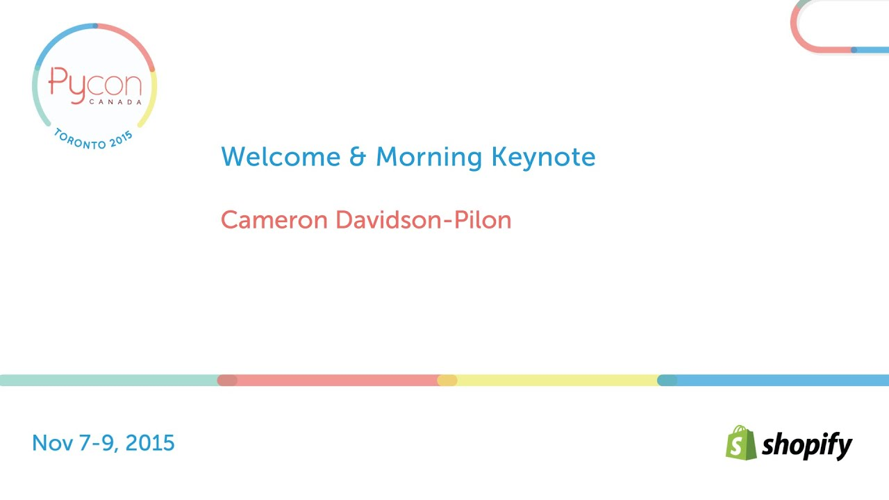 Image from Welcome & Morning Keynote