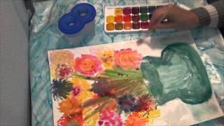 Стиль- мокрая бумага. Как я впервые рисовала на мокрой бумаге(Скоро статья на блоге для души про мои ощущения при таком рисовании http://garmoniya-mir.com/ Такую технику рисования..., 2014-05-27T19:41:46.000Z)