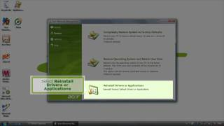 eRecovery - Reinstall Drivers and Software (English)