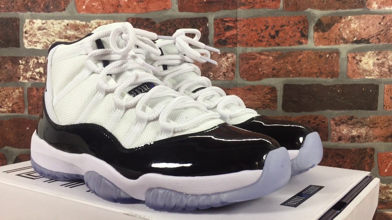 915597bd39bd Air Jordan 11 XI Retro White   Black-Dark Concord 378037-107 - YouTube
