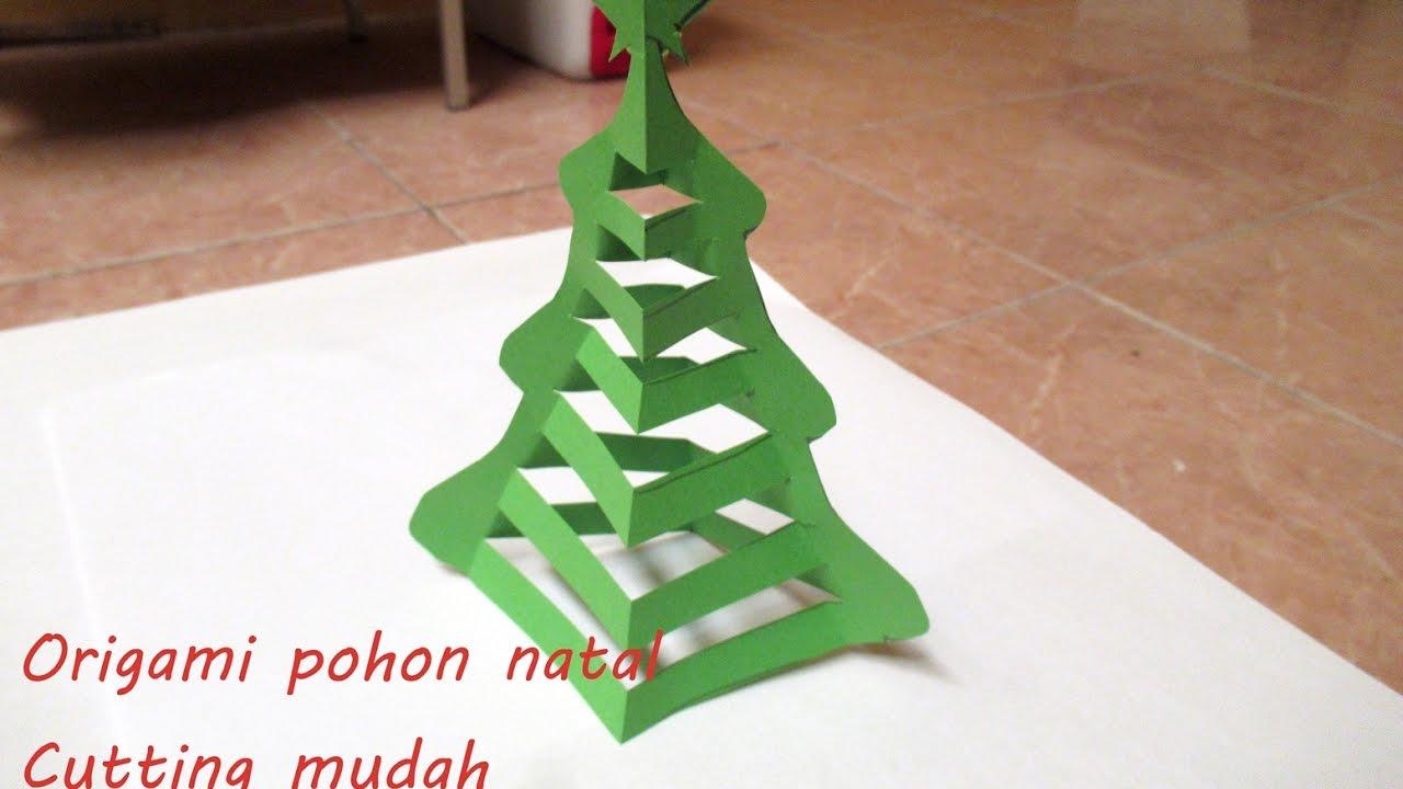 tutorial origami pohon natal