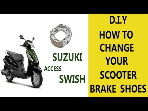 Suzuki Access/Swish 125 Brake shoes replacement | D.I.Y |