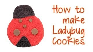 Ladybug Cookies Made With Refrigerator Cookie Dough