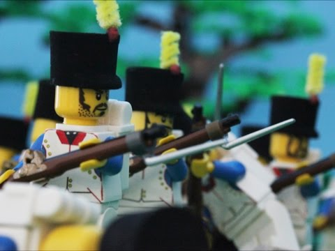1815 Lego Battle of Waterloo at Hougoumont