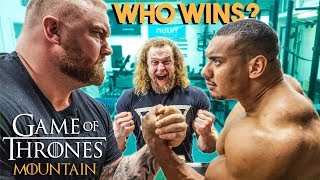 Mountain vs Larry Wheels vs Jujimufu ARM WRESTLING
