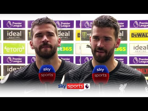 Emotional Alisson reacts