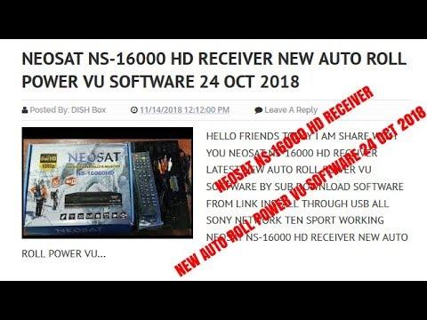 Neosat Ns 16000 Hd Receiver New Auto Roll Power Vu Software 24 Oct