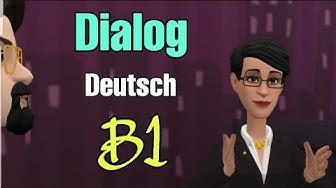 Dialog Deutsch Niveau B1 4k 😍😊☝️👍