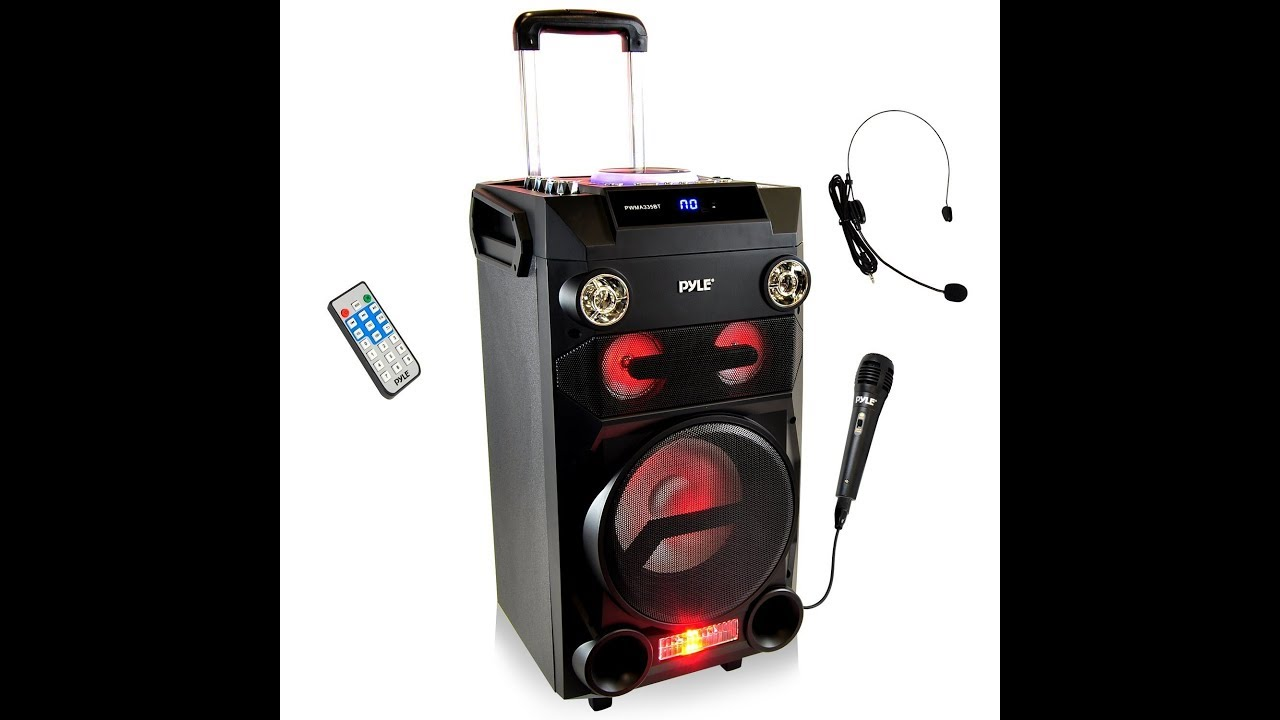 700Watts Portable 12 inch bluetooth karaoke speaker with lights and microphone