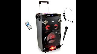Pyle Outdoor Portable Wireless Bluetooth Karaoke PA Loud speaker 8 Subwoofer Sound Syst