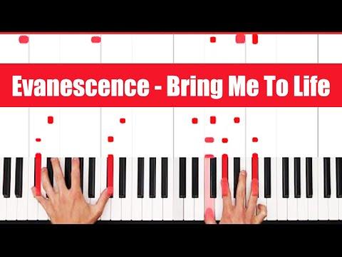 Bring Me To Life Evanescence Piano Tutoria - LICK