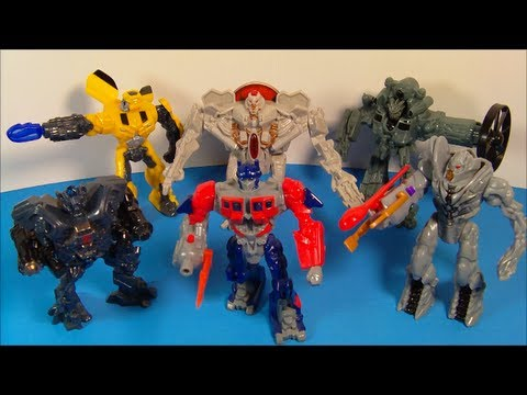 2010 TRANSFORMERS ROTF SET OF 6 McDONALD'S HAPPY MEAL MOVIE TOY'S VIDEO REVIEW
