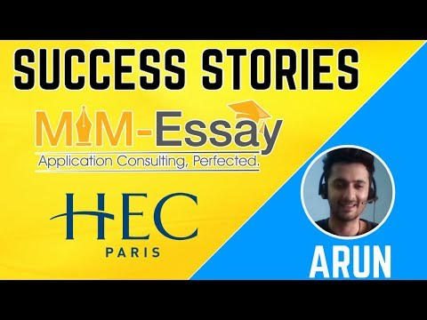 Success Stories | Arun ( Master In Management) HEC Paris | Review
