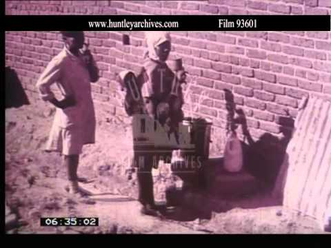 Apartheid in 1970's South Africa.  Archive film 93601