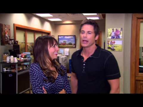 Parks and Recreation: Rob Lowe & Rashisda Jones 100th Episode Interview Soundbites