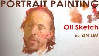 Oil Sketch for Portrait Painting 1: Warm Light.