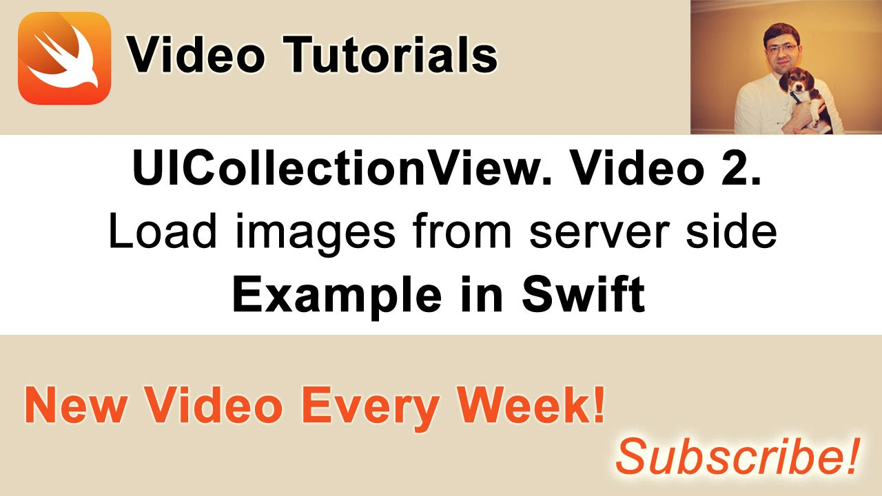 UICollectionView example in Swift. Loading images from server side PHP Script.