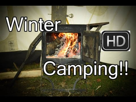 SnowTrekker Hot Tent, Woodstove And Winter Camping Plans