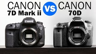 Canon 7D Mark ii vs Canon 70D Full Comparison(Here is our Comparison of the Canon 7D Mark ii vs the Canon 70D. Help make our video possible by using are our links when you get something on Amazon., 2014-11-27T18:30:04.000Z)