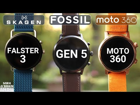MOTO 360 vs FOSSIL GEN 5 vs SKAGEN FALSTER 3 [Best Wear OS Watches]
