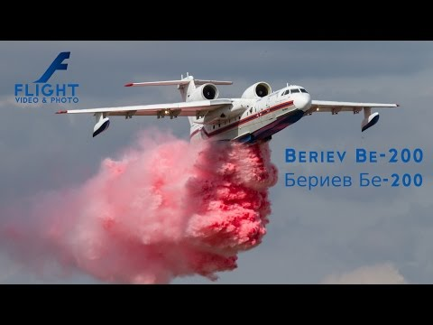 Beriev Be-200 Russian Fire Fighting Aircraft - 4K UltraHD Video