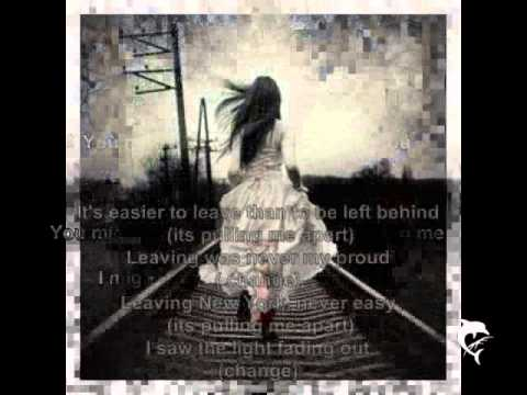 Leaving New York - REM lyrics on screen