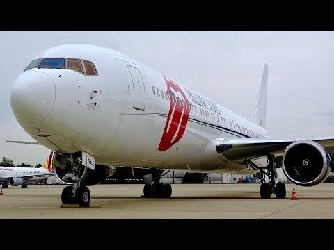 ROLLING STONES Boeing 767-300ER ULTIMATE CLOSE-UPS | Düsseldorf Airport | Spotter tour | ZS-NEX