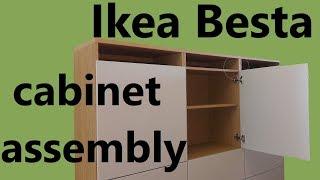 Ikea Besta cabinet assembly (part 1 body)