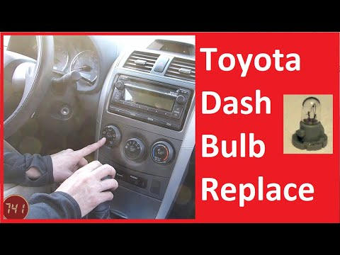 Toyota Dash Lamp Bulb Replacement
