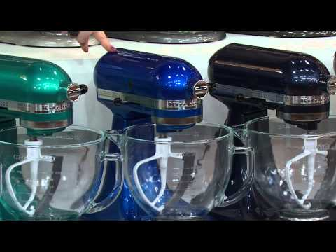 KitchenAid 5 qt 325W Tilt Head Stand Mixer w/ Glass Bowl & Flex Edge with Rick Domeier
