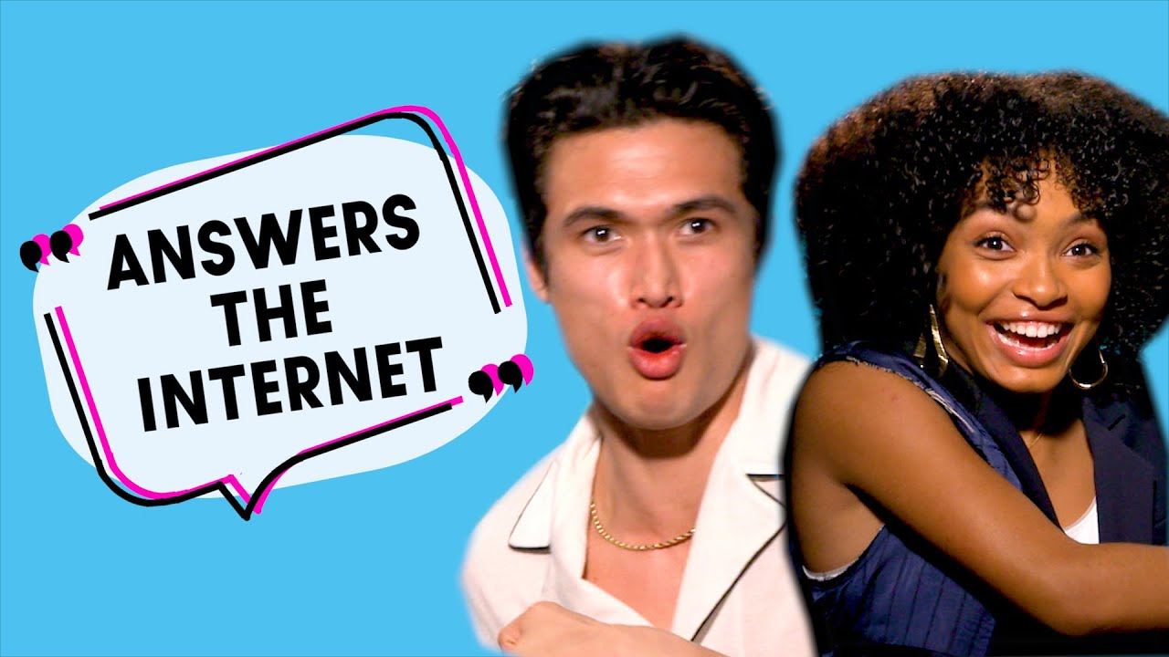 Download 'Do you have a crush on Ariana?': Charles Melton & Yara Shadhidi get cute 'Answering The Internet'